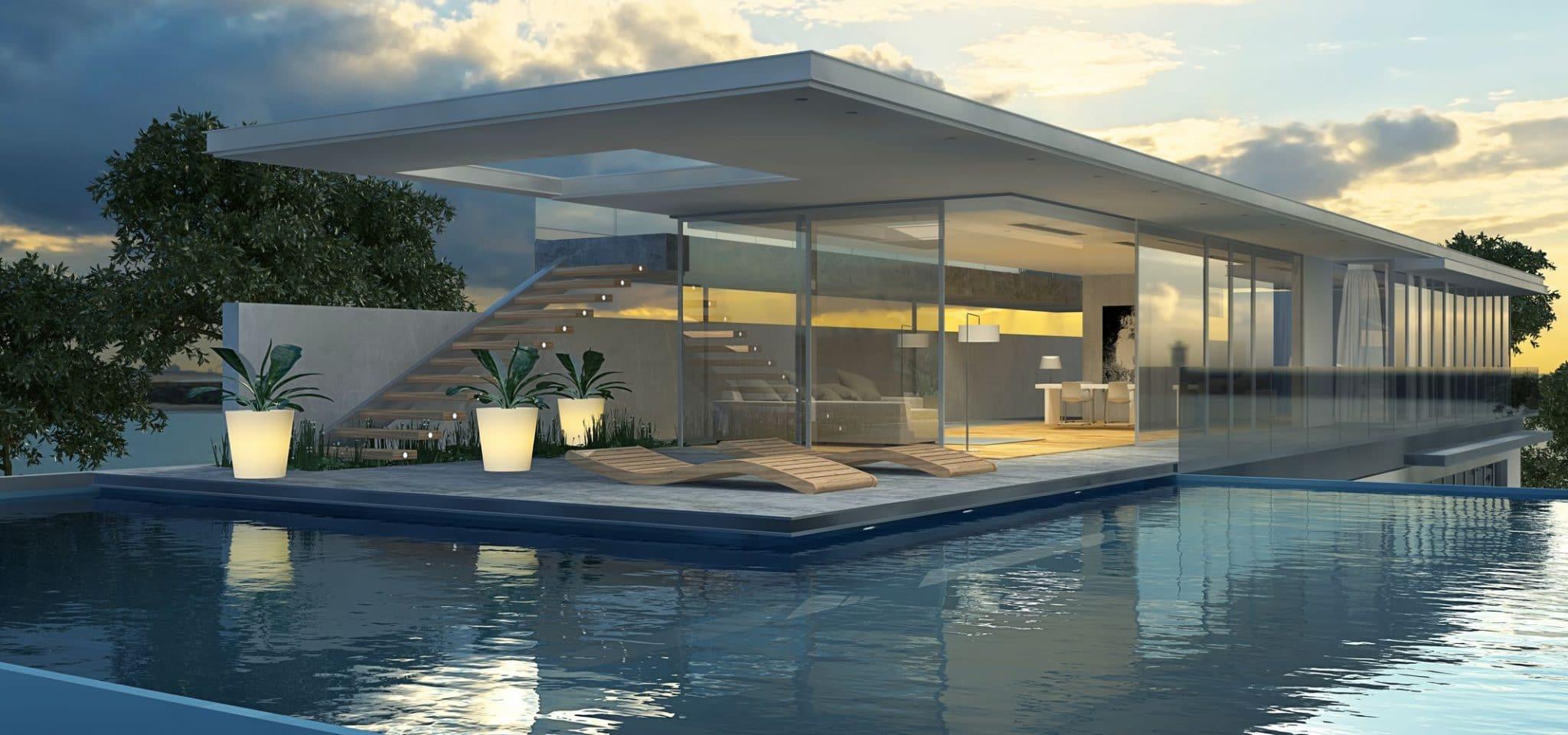 Moderne Villa mit Schwimmecken